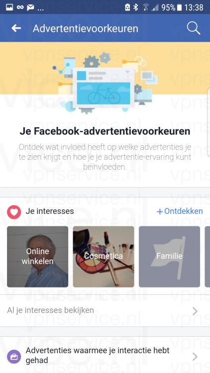 Facebook Privacy Instellingen Android Advertentievoorkeuren