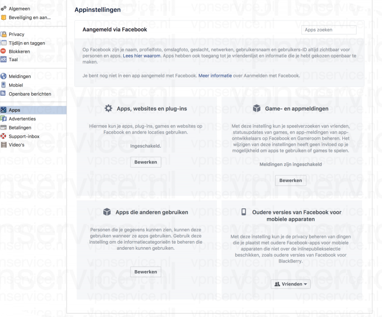 Desktop 004 Facebook Privacy Instellingen Appinstellingen Windows en Mac