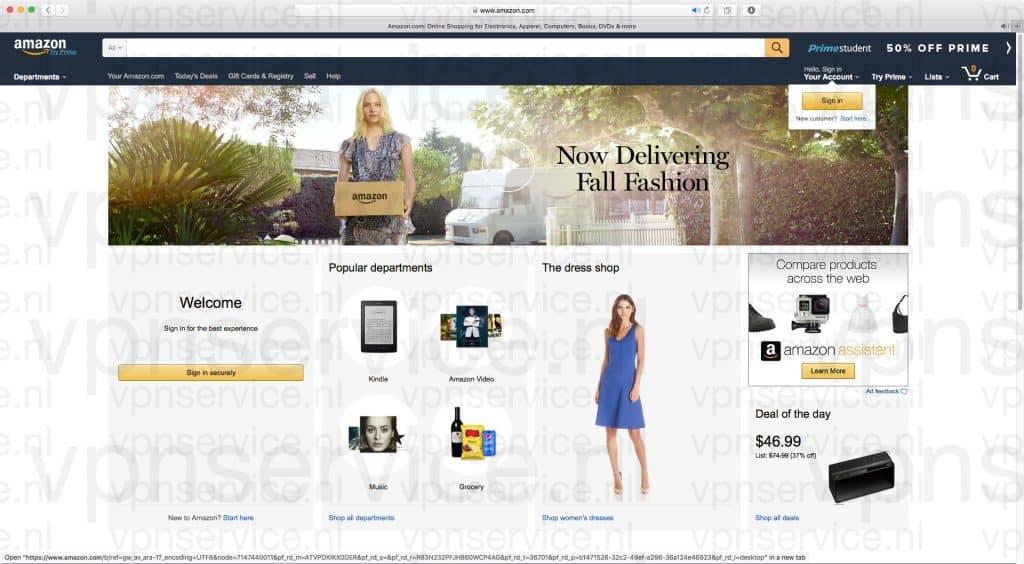 Normale Amazon.com Account registeren