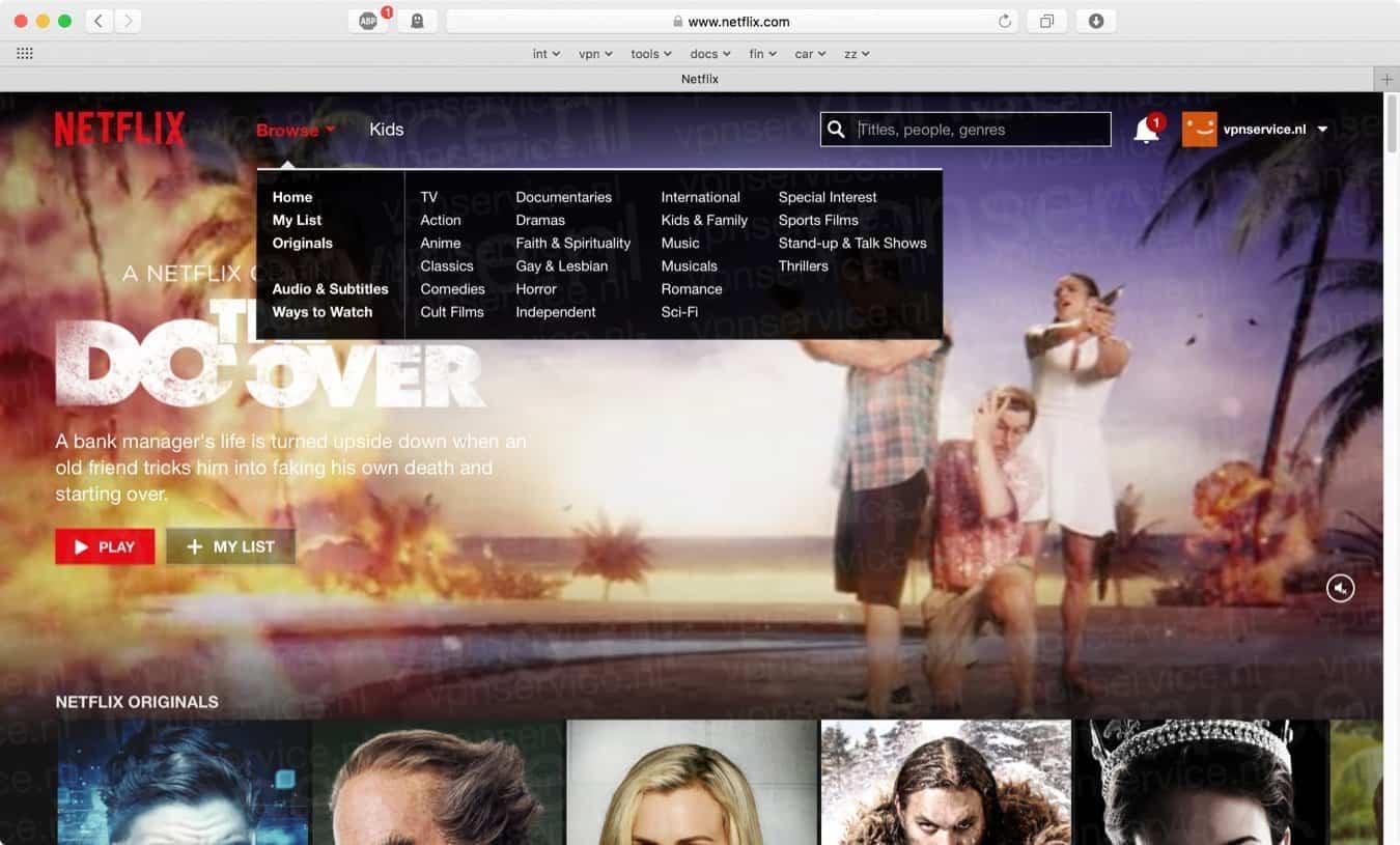Amerikaanse Netflix in Nederland