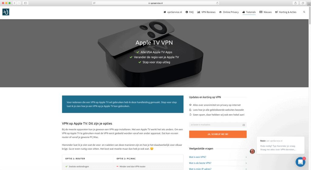 Apple TV VPN instellen
