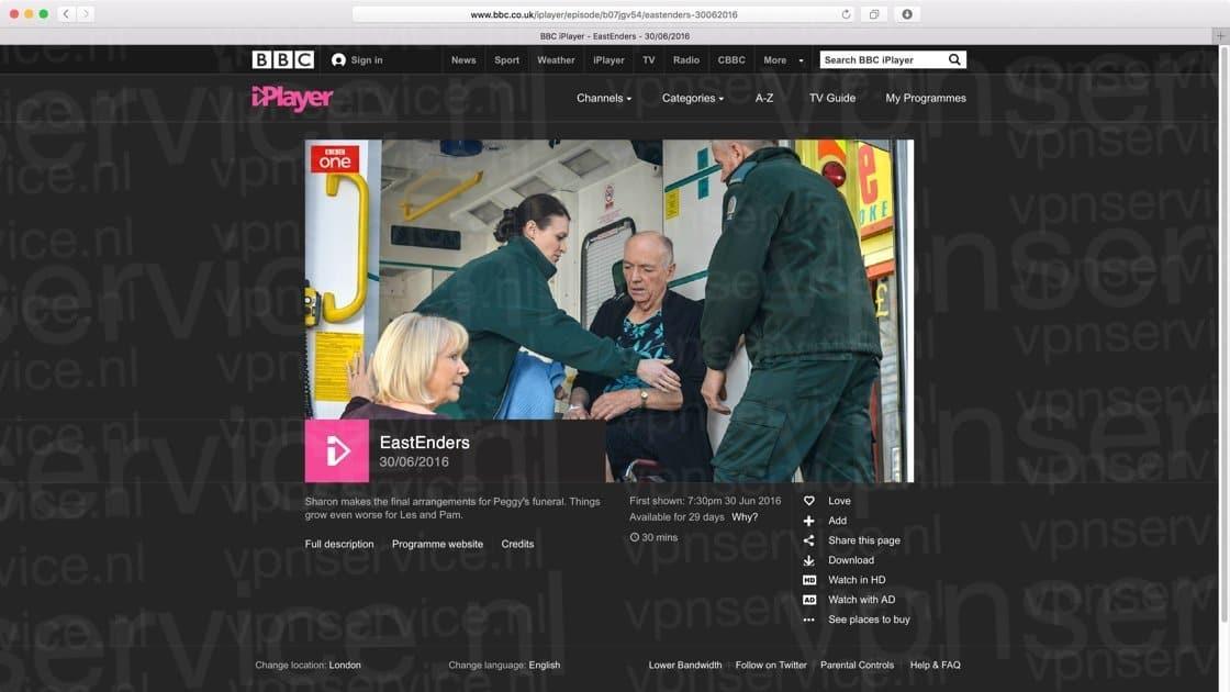 Kijk alle BBC iPlayer programma's via VPN