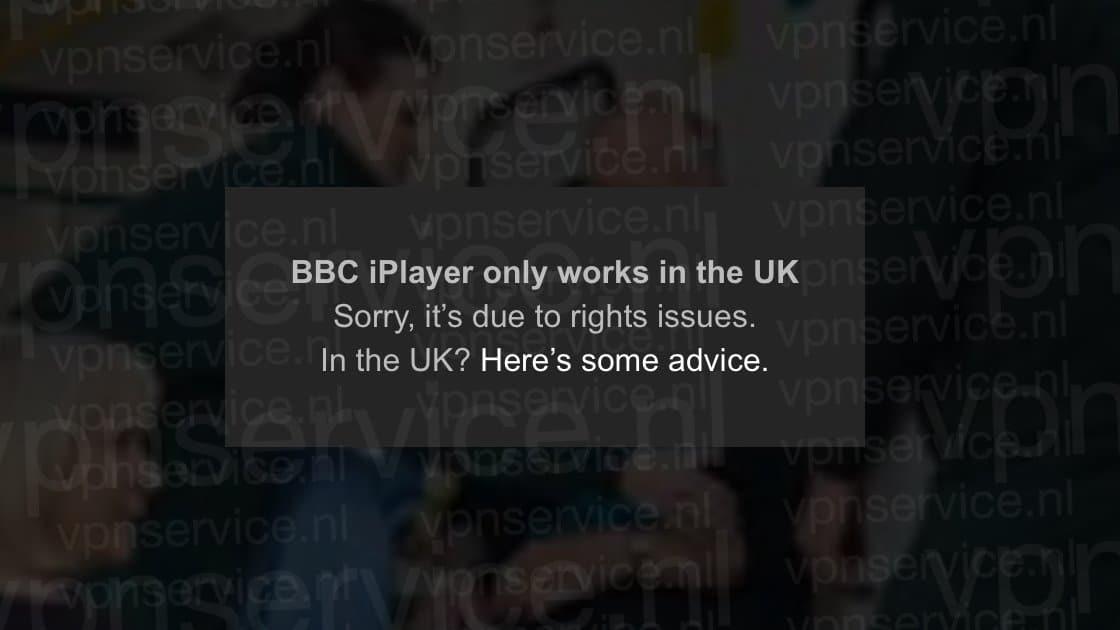 BBC iPlayer foutmelding