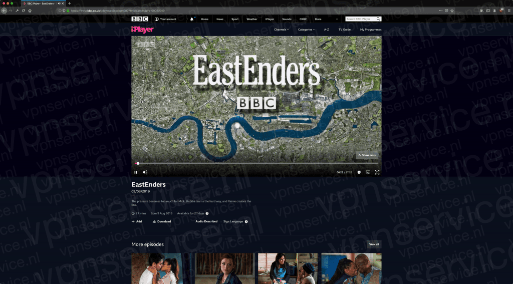 BBC iPlayer in Nederland kijken in browser