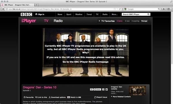 BBC iPlayer geoblokkade