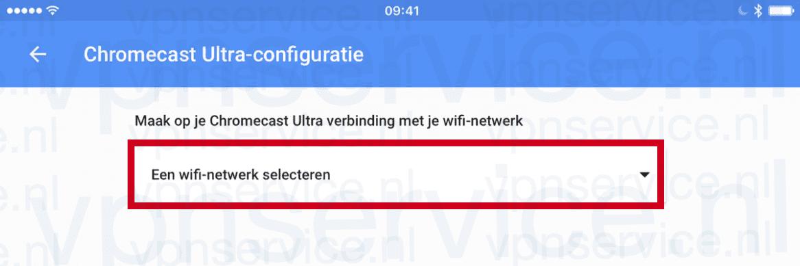 Kies Een WIFI-netwerk selecteren/Select WIFI network