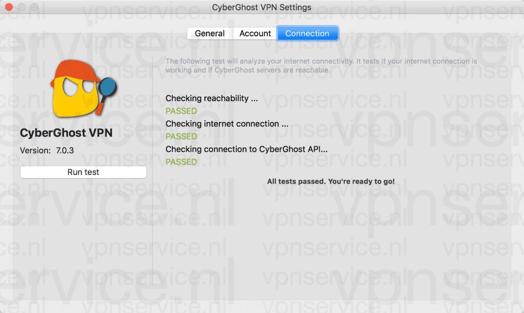 CyberGhost Instellingen
