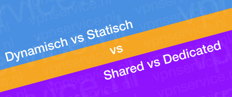 Dynamisch vs Statisch vs Shared vs Dedicated IP VPN