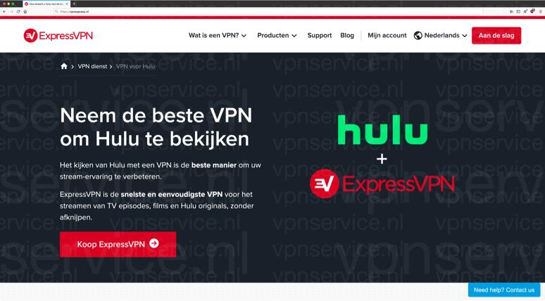 ExpressVPN account voor Hulu