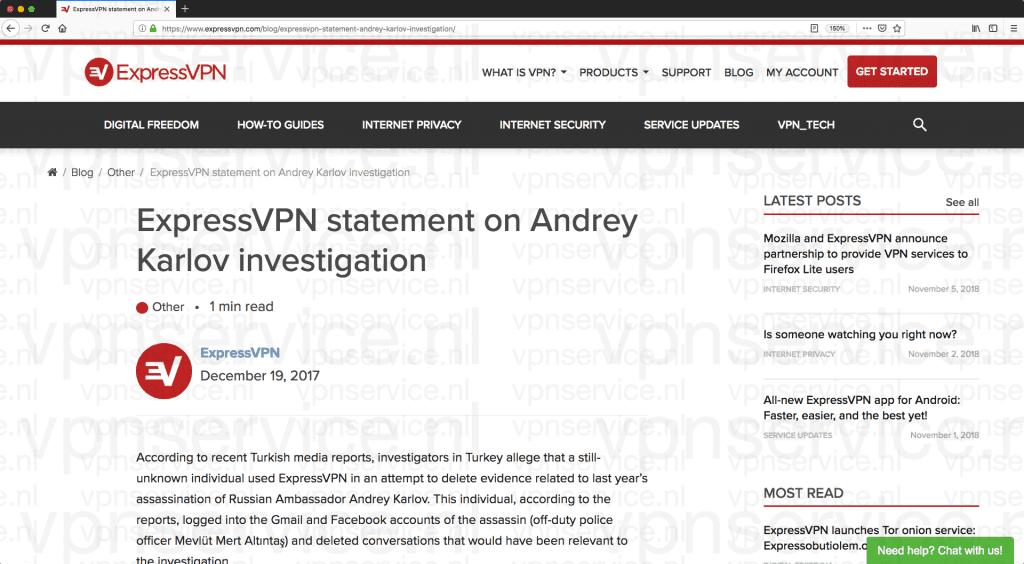 ExpressVPN Servers Onderzoek Moord Aanslag Russische Ambassadeur Turkije
