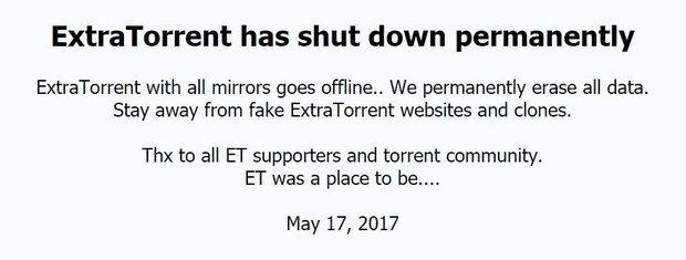 ExtraTorrent stopt