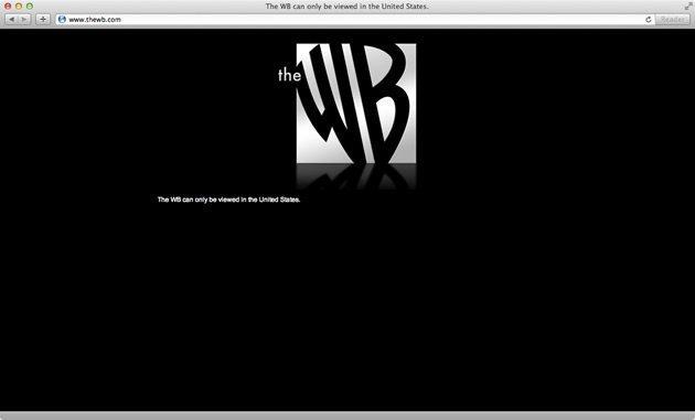 Geografische blokkade The WB