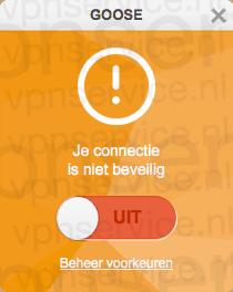 Goose VPN Review Waarschuwing