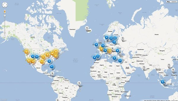 HideMyAss VPN servers map