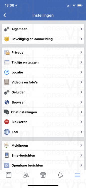 Facebook Privacy Instellingen Overzicht van Hoofdscherm
