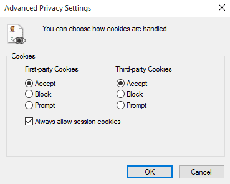 Cookies uitschakelen in Internet Explorer
