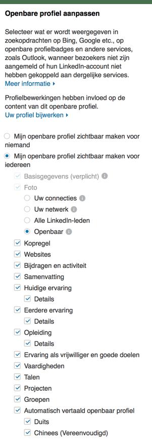Privacy Instellingen voor je Openbare LinkedIN Profiel Aanpassen