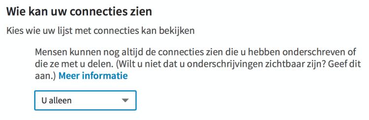 Stel in wie je Connecties mag zien op LinkedIN