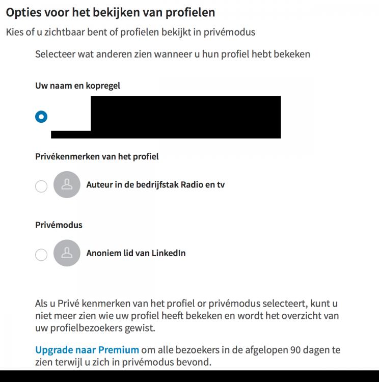 Anoniem LinkedIN Profielen Bekijken