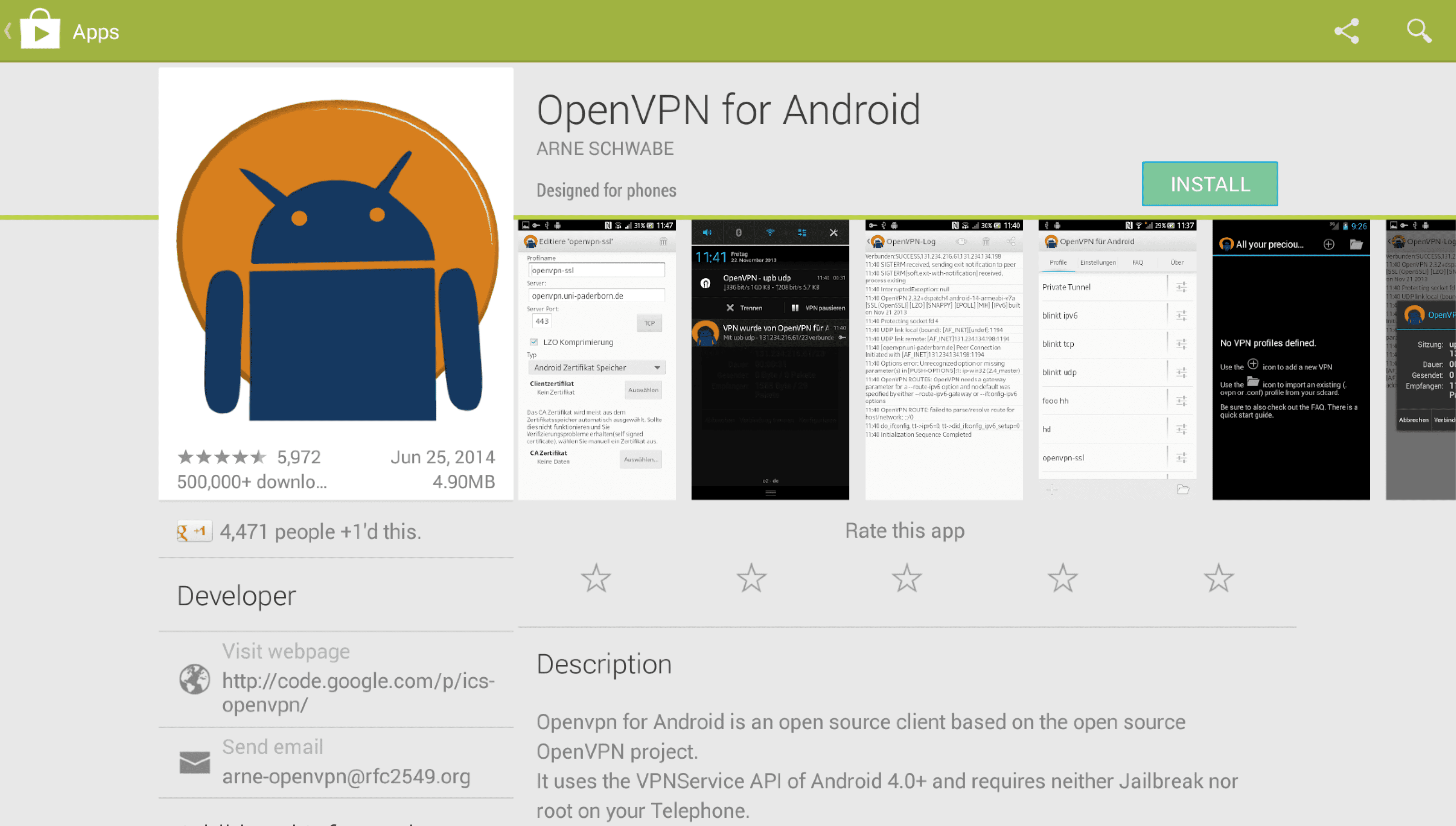 Download OpenVPN for Android via Google Play