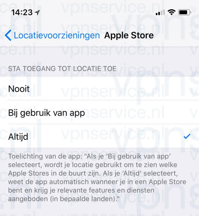 iOS Privacy Instellingen: Locatievoorzieningen per app uitschakelen