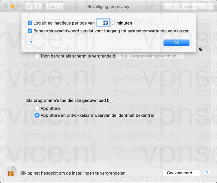 Automatisch uitloggen op je Mac na minuten