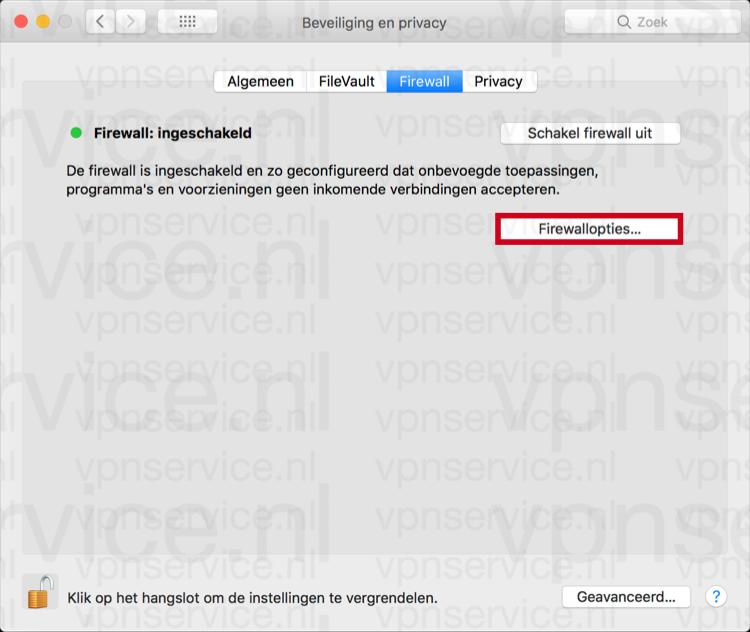Mac Firewall instellingen aanpassen