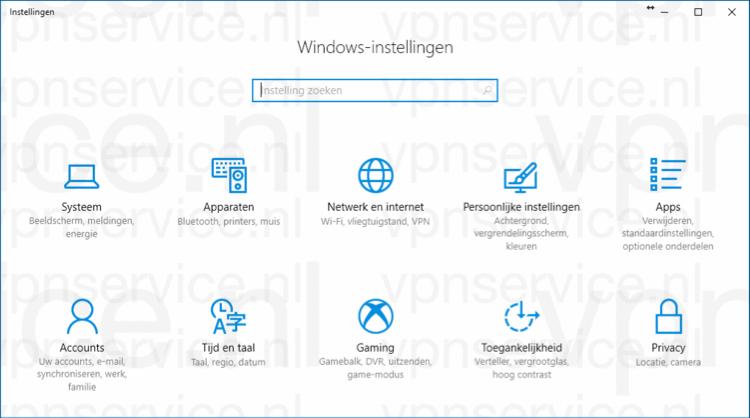 Windows privacy instellingen algemeen