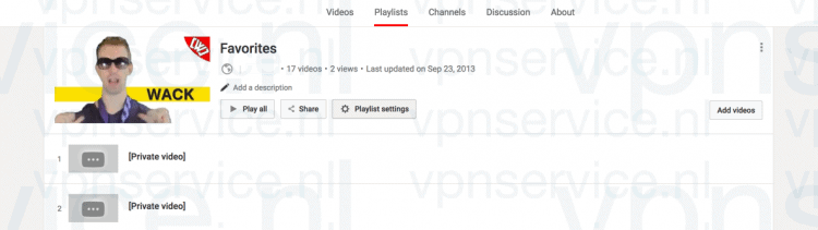 Youtube Playlist Privacy Settings