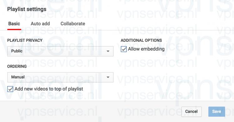 Youtube Privacy Instellingen aanpassen per Playlist