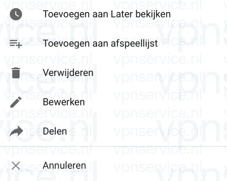 Privacy Instellingen per video wijzigen op Youtube iOS