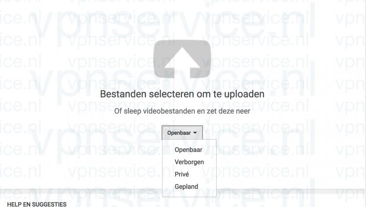 Youtube Privacy Instellingen voor Uploads openen