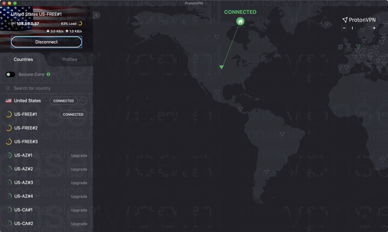 Hulu streamen met ProtonVPN