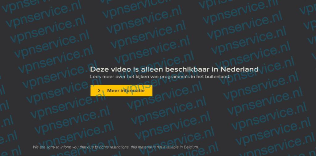 RTL XL foutmelding: Deze video is alleen beschikbaar in Nederland
