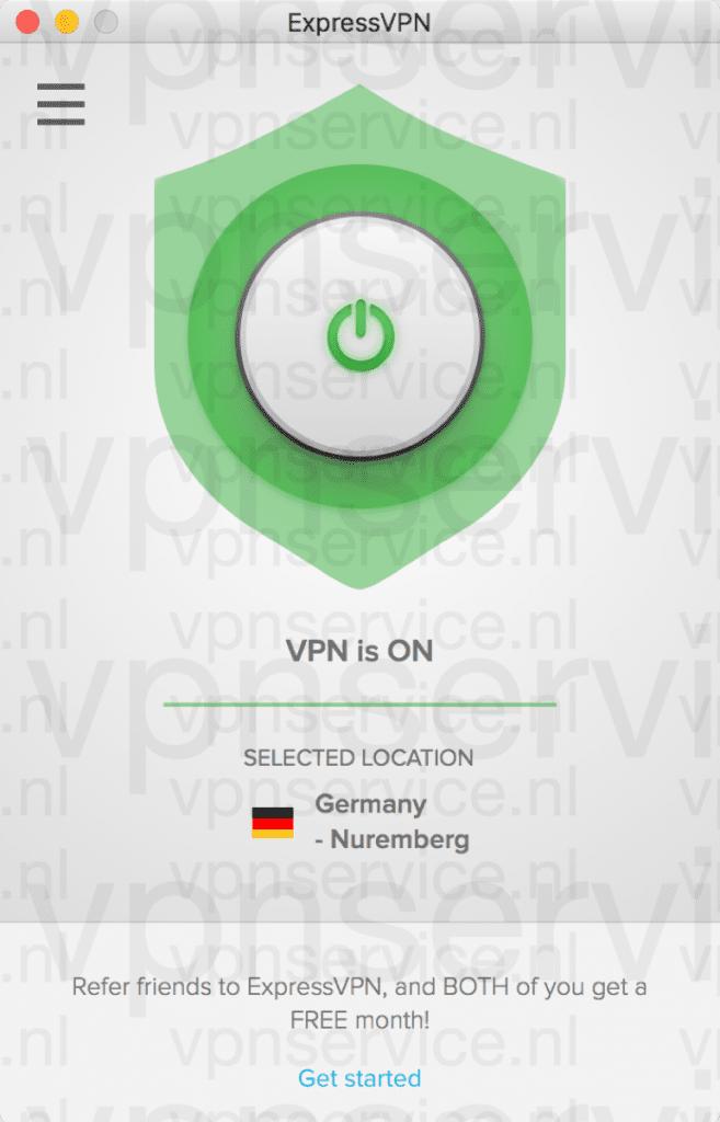 """Wacht tot er """"VPN is ON"""" staat. Dan is de verbinding tot stand gebracht."""