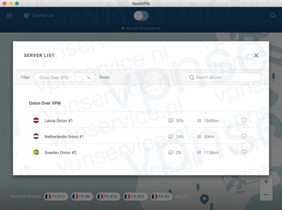 Automatisch TOR over VPN gebruiken met NordVPN
