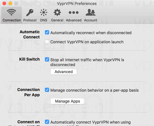 VyprVPN Kill Switch