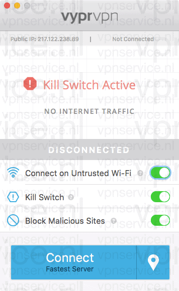 VyprVPN Kill Switch app voor Windows en Mac