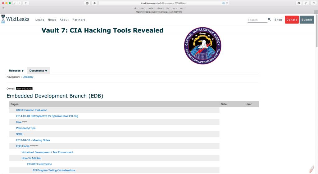 Wikileaks CIA lekken