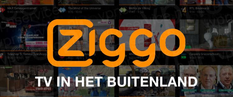 Ziggo GO in het buitenland kijken 2018